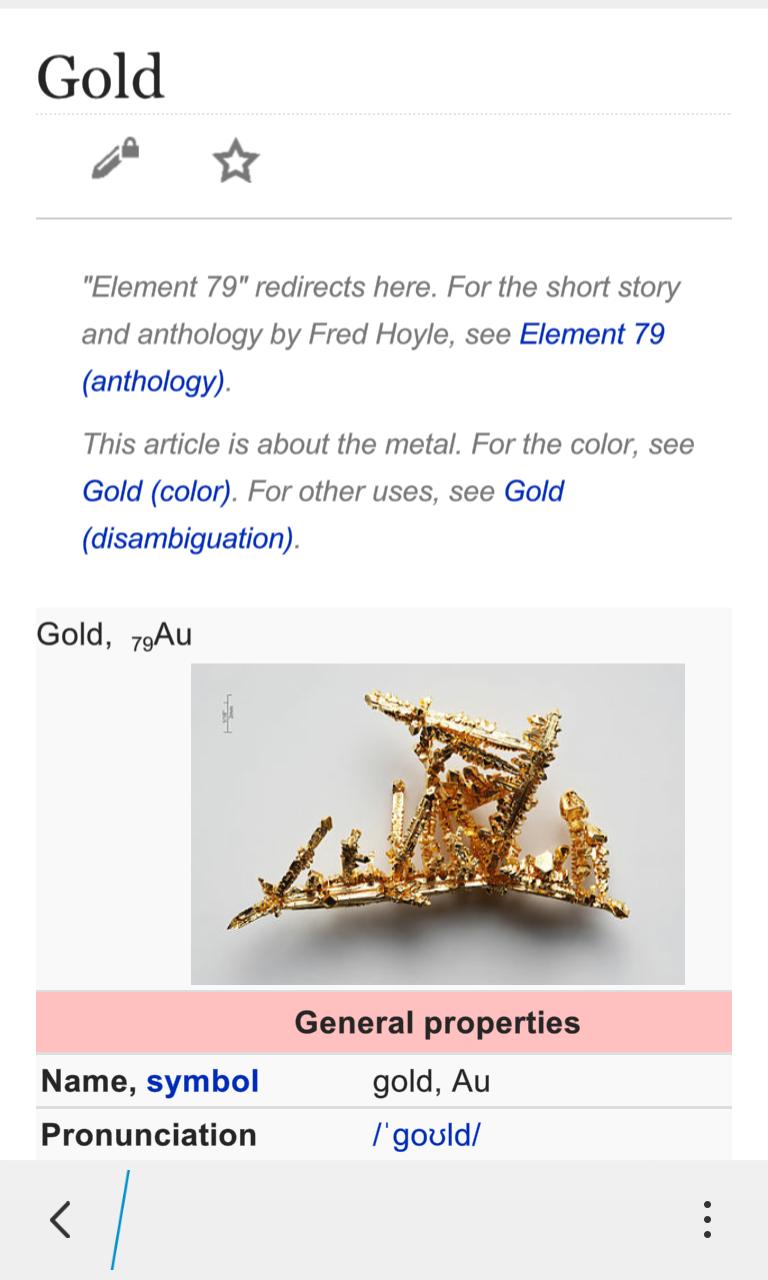 wikipedia integration - Au Periodic Table Wikipedia